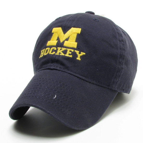 Legacy University of Michigan Hockey Navy Slouch Hat