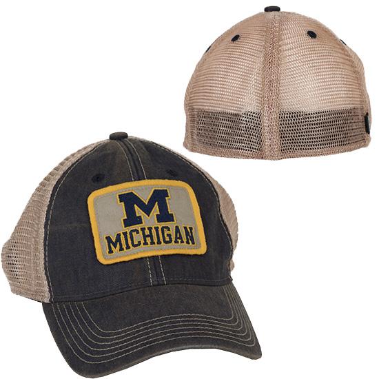 Legacy University of Michigan Patch Meshback Flex Fit Trucker Hat