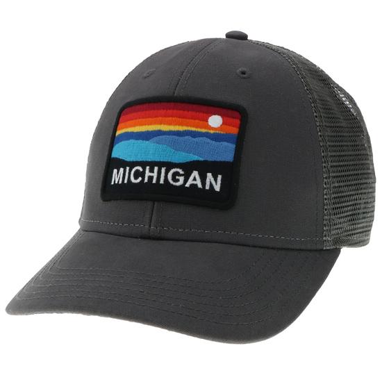 Legacy Michigan Gray ''Horizon'' Low-Profile Meshback Snapback Hat