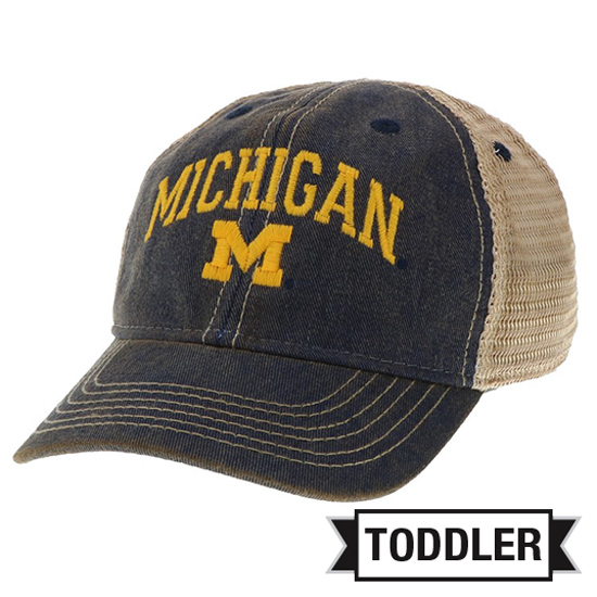 Legacy University of Michigan Toddler Washed Navy ''Old Favorite'' Meshback Snapback Hat