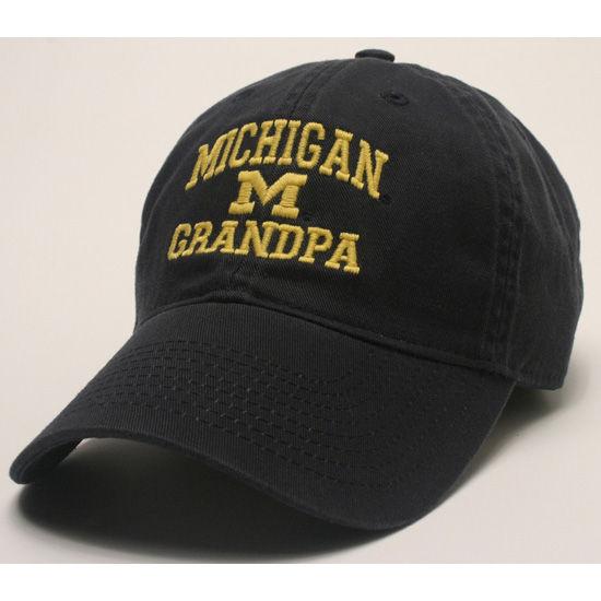 Legacy University of Michigan Grandpa Navy Slouch Hat