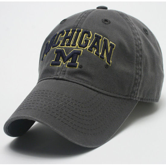 Legacy University of Michigan Dark Gray Michigan/M Slouch Hat