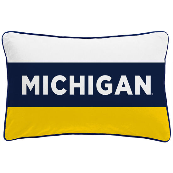 League Collegiate Outfitters University of Michigan Striped Rectangle Pillow