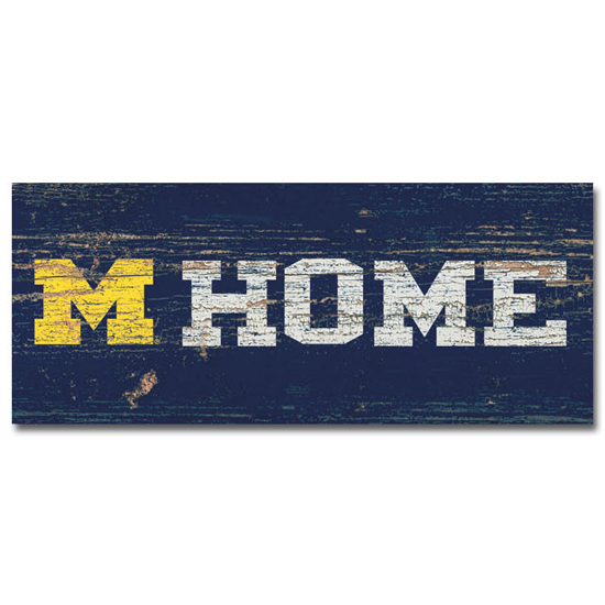 Legacy University of Michigan Table Top Stick Mini ''HOME'' Sign
