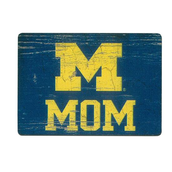 Legacy University of Michigan Mom Block ''M'' Refrigerator Magnet