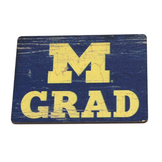 Legacy University of Michigan Block ''M'' Graduate Refrigerator Magnet