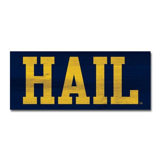 Legacy University of Michigan Table Top Stick Mini ''HAIL'' Sign