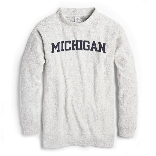 League Collegiate Outfitters University of Michigan Women's Ezra's Best Reverse Loop Crewneck Sweatshirt
