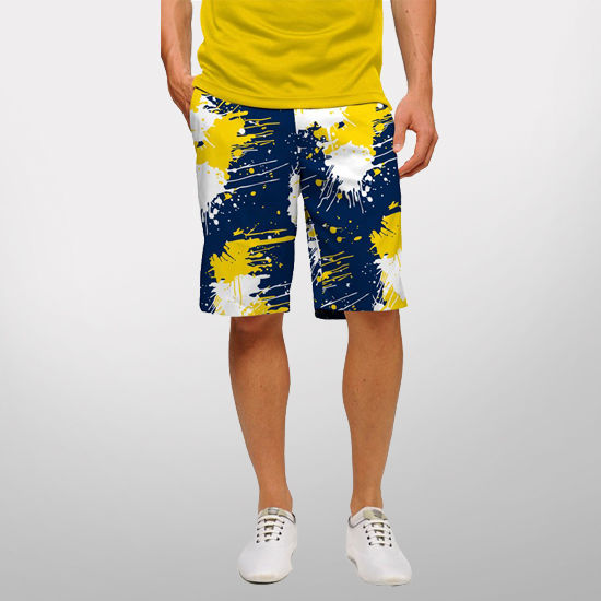 Loudmouth Golf University of Michigan Drop Cloth Short