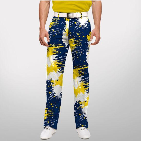 7579836332 Loudmouth Golf University of Michigan Paint Splatter Golf Pant