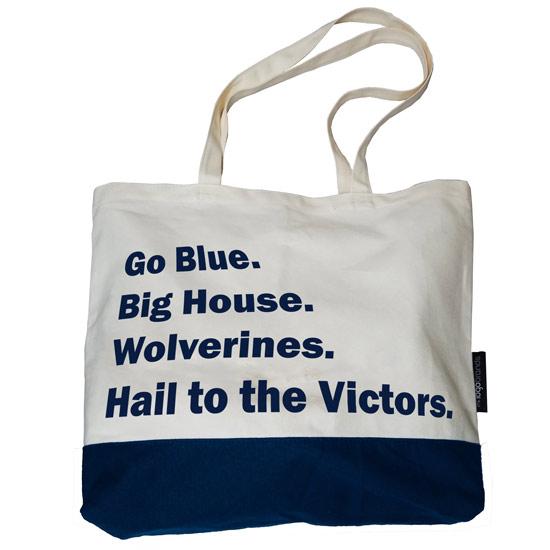 Logo Chairs University of Michigan ''Favorite Things'' Canvas Tote Bag