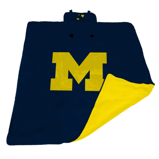 Logo Brands University of Michigan All Weather Outdoor Blanket XL