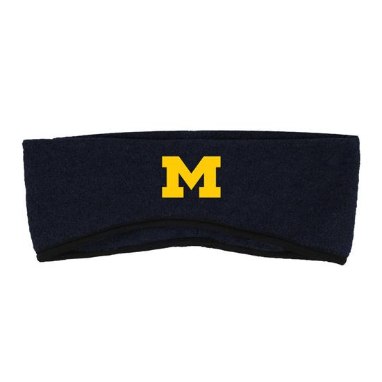 LogoFit University of Michigan Navy ''Essex'' Fleece Knit Earband