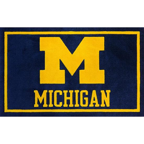 Luxury Sports Rugs University of Michigan 20'' x 30'' Floor Mat