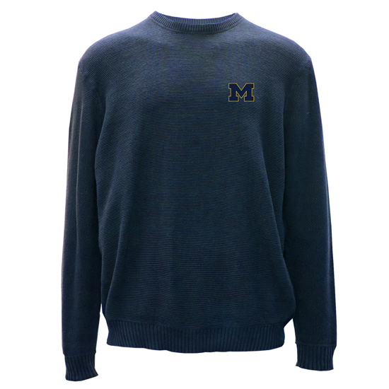Salute University of Michigan Indigo Muskoka Ribbed Crewneck Sweater