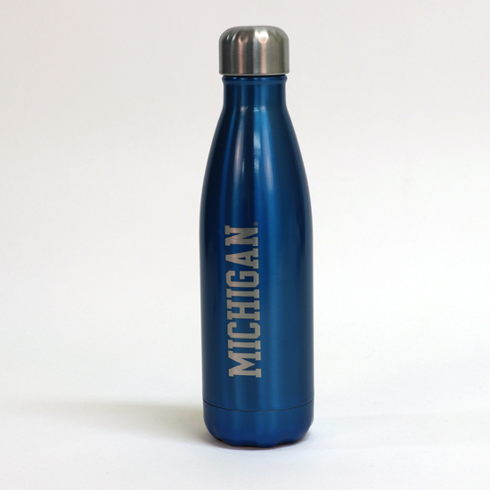 S'well University of Michigan Ocean Blue Stainless Steel Water Bottle