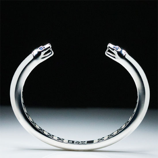 MaraWatch & Co. University of Michigan .925 Sterling Silver Wolverine Bangle