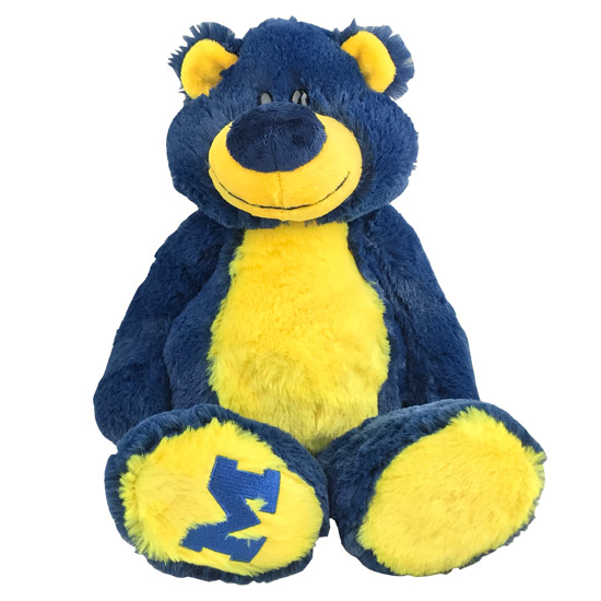 Mascot Factory University of Michigan Maize and Blue ''Ziggy'' Plush Teddy Bear