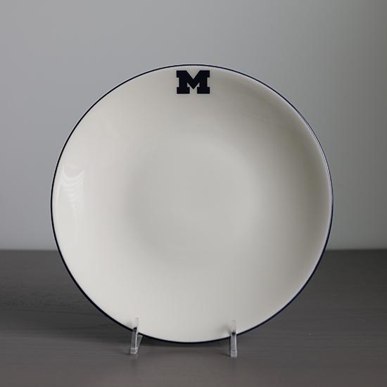 HAIL Brand University of Michigan Italian Ceramic 10'' Dinner Plate