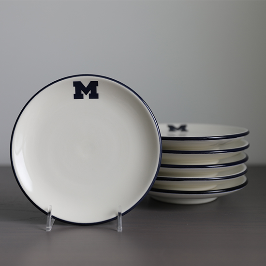HAIL Brand University of Michigan Italian Ceramic 5.75'' Canape Plate