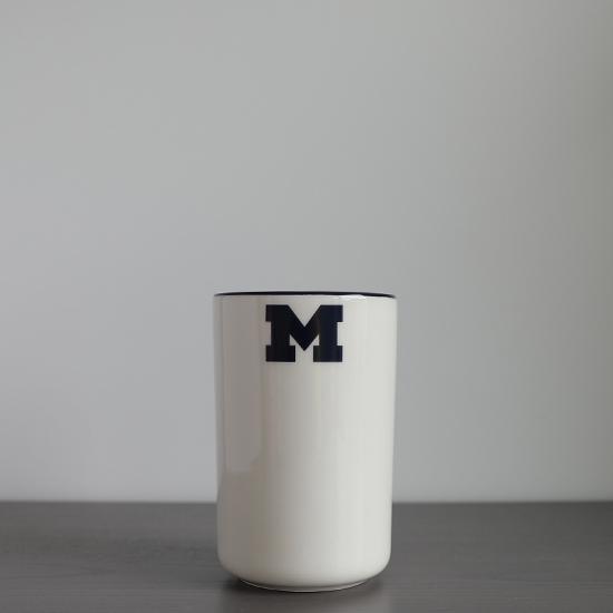 HAIL Brand University of Michigan Italian Ceramic Wine Bottle/ Utensil Holder