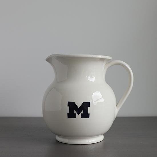 HAIL Brand University of Michigan Italian Ceramic Pitcher