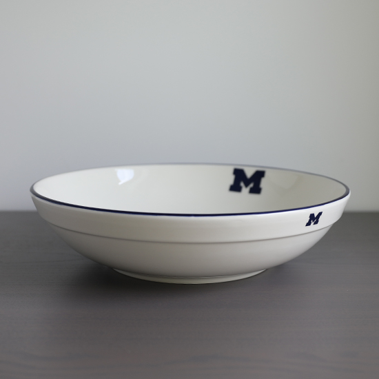 HAIL Brand University of Michigan Italian Ceramic 12'' Serving Bowl