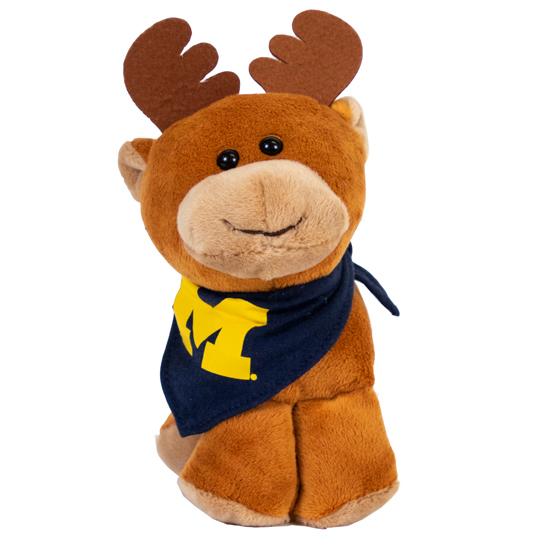 Mascot Factory University of Michigan ''Short Stacks'' Plush Moose Stuffed Animal