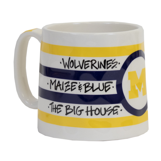 Magnolia Lane University of Michigan Logo Pottery Mug