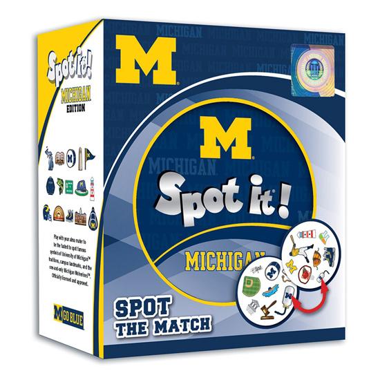 Masterpieces University of Michigan ''Spot It'' Matching Card Game