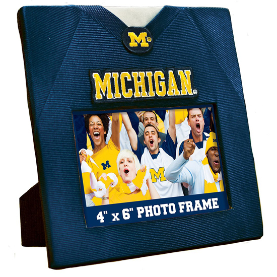 Master Pieces University of Michigan Football Jersey 4x6 Picture Frame