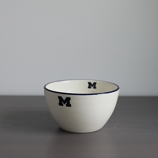 HAIL Brand University of Michigan Italian Ceramic Chowder/ Soup/ Salad Bowl