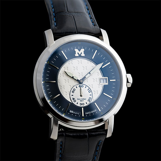 HAIL Brand University of Michigan Stainless Steel Swiss Made Watch