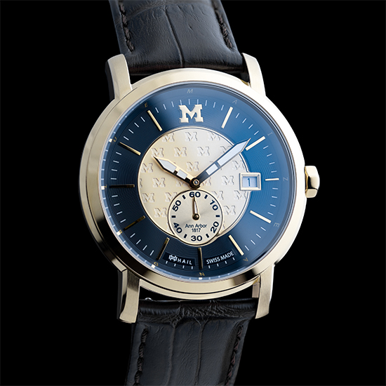 HAIL Brand University of Michigan Gold Ionic Plated Swiss Made Watch