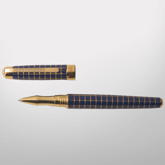 MaraWatch & Co. University of Michigan 20k Gold Plated Pen with Diamonds
