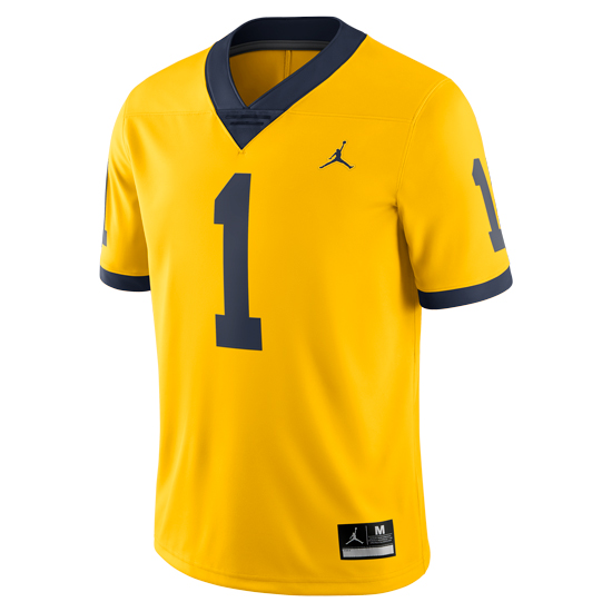 d4b407d991dd Jordan University of Michigan Football Maize  1 Limited Alternate Jersey