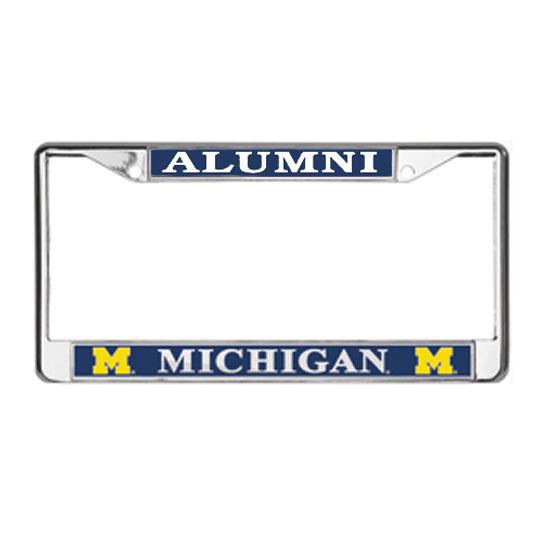 MCM University of Michigan Alumni Platinum Series License Plate Frame