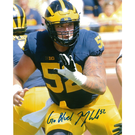 University of Michigan Football Mason Cole Autographed 8 x 10 Picture