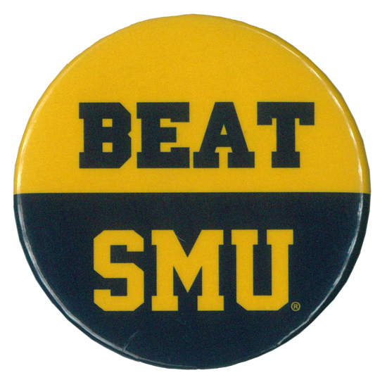 MCM University of Michigan Beat Southern Methodist University (SMU) Button