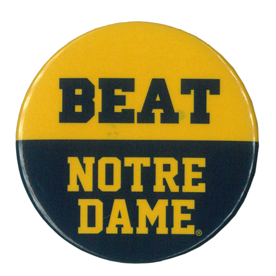 MCM University of Michigan Beat Notre Dame Button