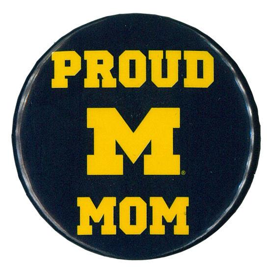 MCM University of Michigan Proud Mom Button