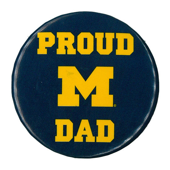 MCM University of Michigan Proud Dad Button
