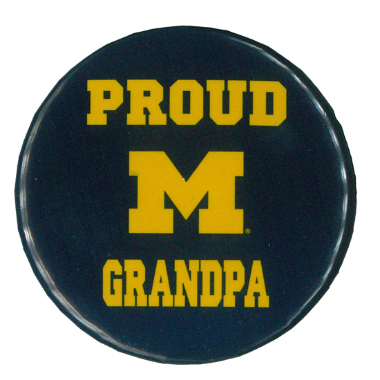 MCM University of Michigan Proud Grandpa Button