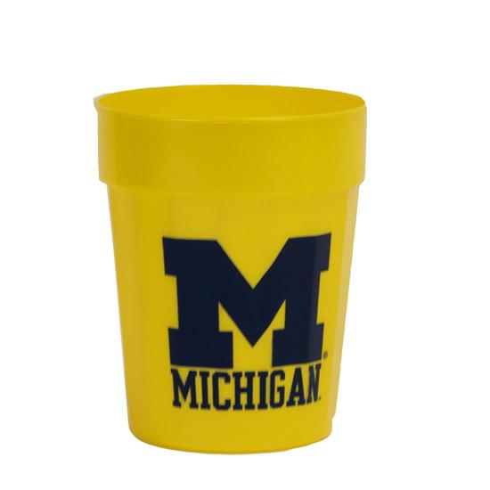Yellow Squat Fluted University of Michigan Stadium Cup
