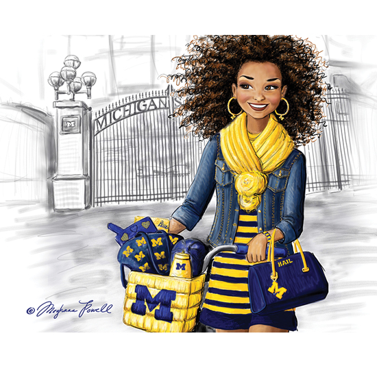 Meghann Powell Illustrations University of Michigan ''UMich Student'' Print