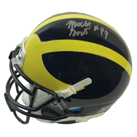 University of Michigan Football Matt Godin Autographed Mini Helmet