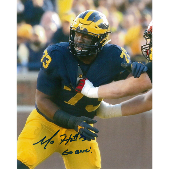 University of Michigan Football Maurice Hurst Jr. Autographed 8 x 10 Picture