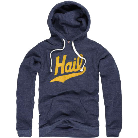 The Mitten State University of Michigan Heather Navy ''HAIL'' Triblend Hooded Sweatshirt