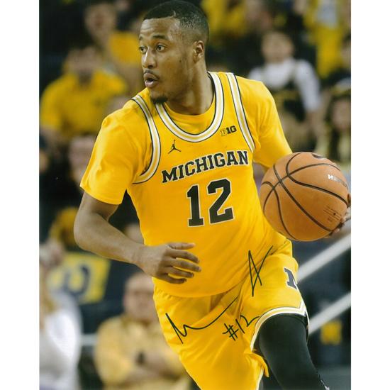 University of Michigan Basketball Muhammad-Ali Abdur-Rahkman Autographed 8 x 10 Picture