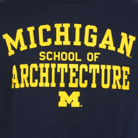New Agenda University Of Michigan School Of Architecture Navy Tee. Product  Thumbnail Product Thumbnail